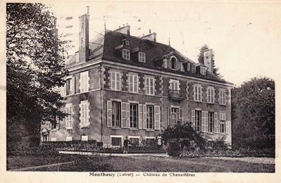Château de Chenevières à Montbouy