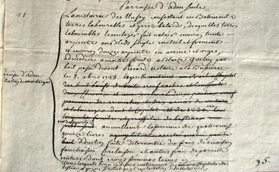 Déclaration de revenus pour Mussy 1734