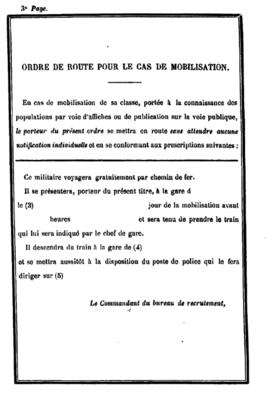 La page 3 du fascicule de mobilisation