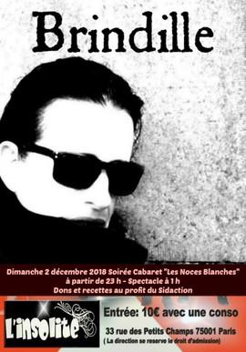L'insolite Discothèque Paris - 2018 Soirée Cabaret au profit du Sidaction - 33, rue des Petits-Champs 75001 Paris - Brindille - Sidaction 2018
