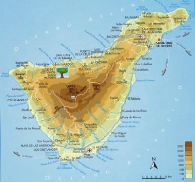 Carte Tenerife A Imprimer.Tour Du Monde A Velo De Bernard Molot