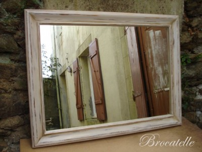 Pin grand miroir en bois flott natydeco on pinterest for Grand miroir encadrement bois