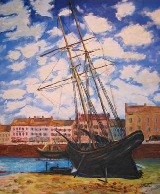 """le bateau échoué de """"Monet"""