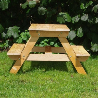 Lote wood puzzle picnic table plans must see for Petite table pour enfants