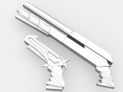 Pistolet léger et lourd en WIP
