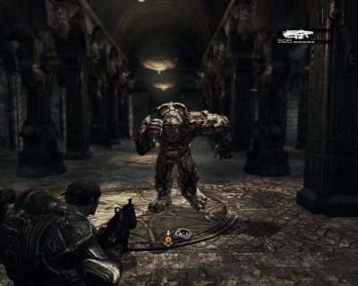 Un screen-shot de Gear of War, un TPS