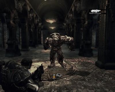 Un screen-shot de Gear of War, un TPS