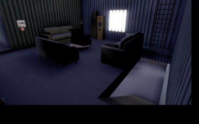 Intérieur des différents Algeco : la salle de détente
