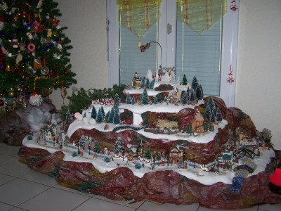 Deco village de noel - Decor village noel miniature ...