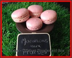Macarons aux Fraises
