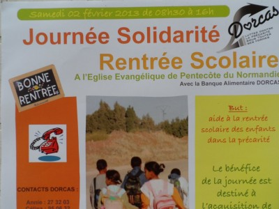 Affiche pour la Journée Solidarité 2013