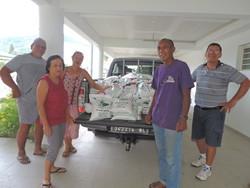 1500 kilos de riz arrivent dans le lieu de stockage de DorcasNC