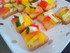 Mini toasts avec des poivrons