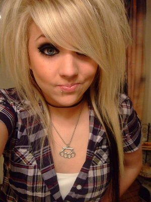 Variant Blonde haired girl with naked emo