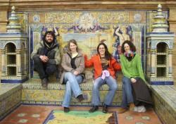 Sevilla Plaza de España con Miguel y Leti