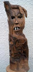 Sculpture sur noyer