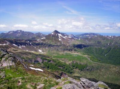 Le Puy-Mary vu du Peyre-Arse