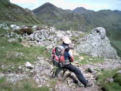 Col du redondet (montagne) vue sur le Puy Mary