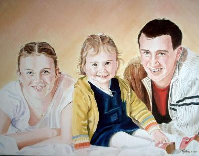 Peinture huile sur toile(65cm x 50cm)