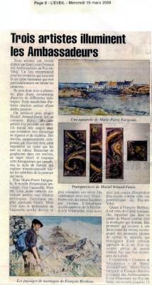 article sur le journal l'éveil mercredi 19 mars 2008