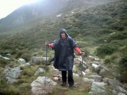 La pluie avant l'arrivée au refuge