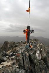 Le sommet et le drapeau cataland