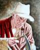 Portrait: Affutage de la faux: 41 cm x 33 cm - (110 € )