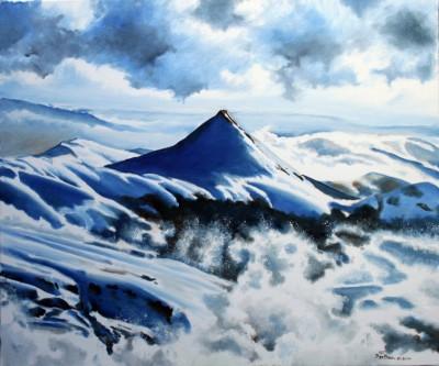 Le Puy Griou sous la neige