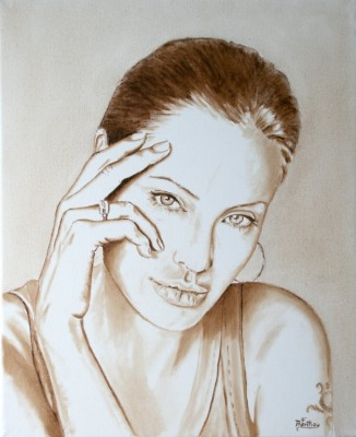 Monochrome,Huile sur toile- 46 cm x 38 cm (100 €)