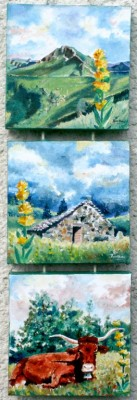 Au pays de la gentiane 3 toile de 20 cm x 20 cm: 120 €