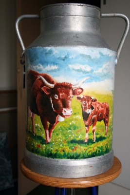 Vache Salers et son veau