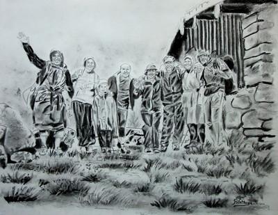 Fusain, Crayon et mine de plomb 65 cm x 50 cm