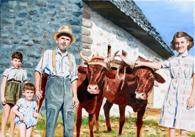 portrait de campagnards