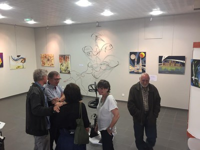 Vernissage de l'expo au falgoux