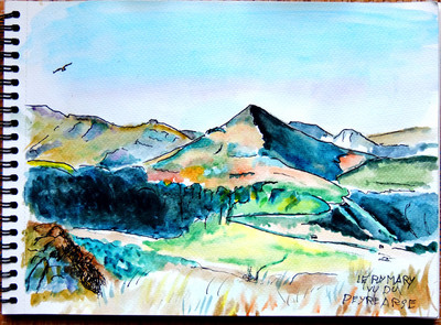 Aquarelle, Puy Mary