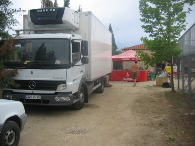 """Le camion frigo de """"Puyol est prêt."""