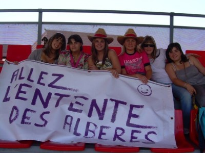 Les supportrices..