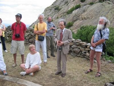 Manuel Branco au four solaire Himalaya à Sorède , Juin 2004.