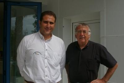 José Salmeron et Antoine Sanchez à l'issu de la visite