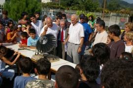Modèle réduit du four solaire de Sorède présenté au Lycée d'Arcos de Valdevez (Portugal 2007)
