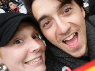 Mathieu et Cecile au MCG