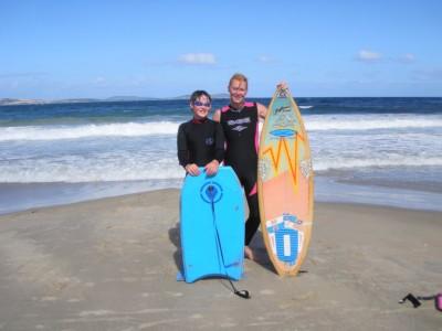 Wiliam et Cécile Surfing