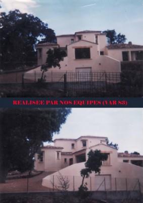 construction d'une villa (Var 83)