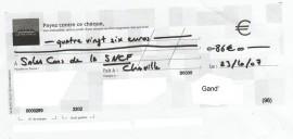 Scan du chèque à la SNCF