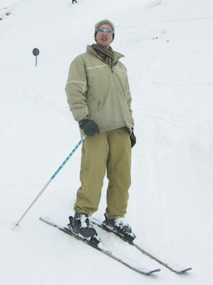 Sur des skis