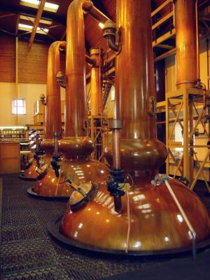 Alambics dans la distillerie
