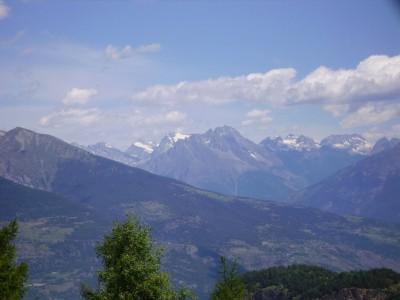 Vue sur le mont blanc côté italien