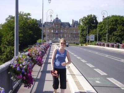 Vue du chateau de Maisons Laffitte, du pont
