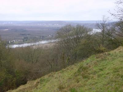 La Seine vue d'en haut, entre Vétheuil et la Roche Guyon