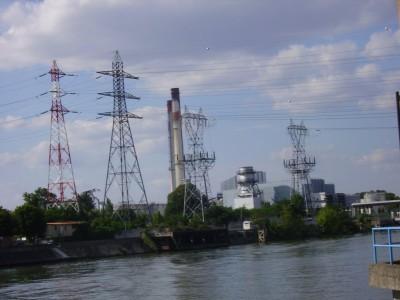 La Seine et la centrale thermique de Virty sur Seine